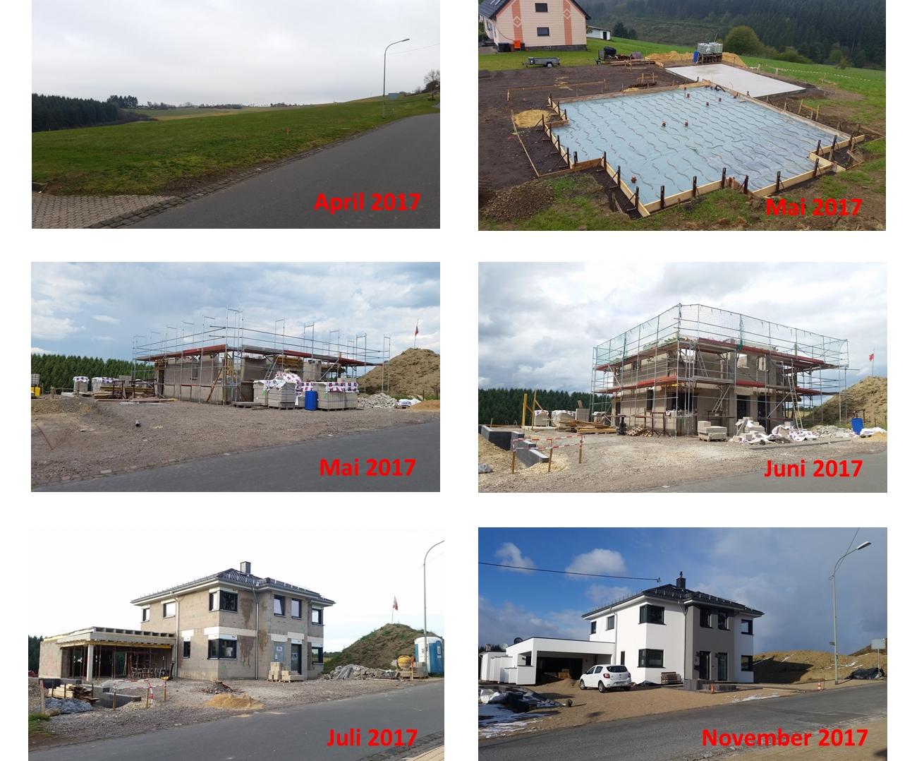 Baufortschritte Mai-November 2017